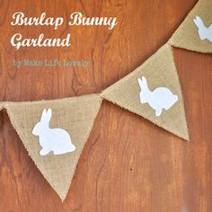 Make Life Lovely: Burlap Bunny Garland (I want to make one for my nursery with the ABC's on it!