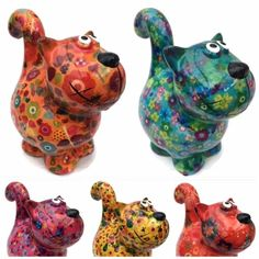 """BEAUTIFUL CERAMIC POMME PIDOU """"DOROTHY"""" CAT MONEY BOX WITH FREE COLOUR GIFT BOX"""