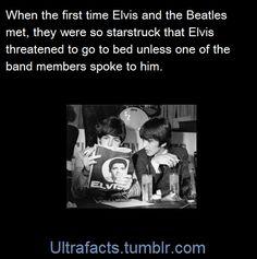 The Beatles meeting Elvis
