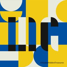 Graphic design | Yellow blue pattern  typography