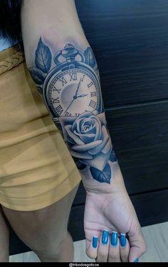 Hand Tattoos, Half Sleeve Tattoos Forearm, Forarm Tattoos, Tattoos For Women Half Sleeve, Cool Forearm Tattoos, Rose Tattoos, Female Forearm Tattoo, Female Tattoo Sleeve, Rose Tattoo Forearm