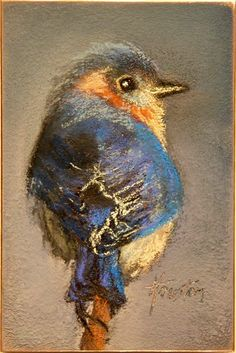 Wise Little Bluebird Amanda Houston Fine Art Soft Pastel Art, Chalk Pastel Art, Pastel Artwork, Oil Pastel Paintings, Oil Pastel Drawings, Chalk Pastels, Chalk Art, Bird Paintings, Crayons Pastel