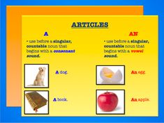 """The indefinite article of English takes the two forms a and an. Semantically they can be regarded as meaning """"one"""" usually without emphasis."""