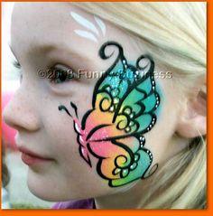 Butterfly cheek design