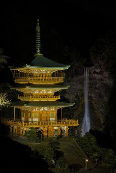 那智の瀧ライトアップ試験点灯 @和歌山県那智勝浦町那智山 2012-12-19 | Flickr - Photo Sharing!