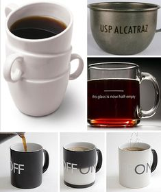 bd13ce2e9c1 To provide some additional options for the newly addicted, this collection  of coffee and tea mugs features designs that are unique and practical at  the same ...