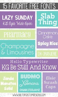 Hilltop Custom Designs Fonts: April 2014