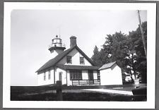VINTAGE 1960 TRAVERSE CITY MICHIGAN MISSION LIGHTHOUSE GRAND TRAVERSE BAY PHOTO