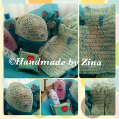 #crochet multicoloured #baby hamper. Come gift-wrapped.  £45 exc. p