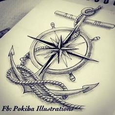 Picture result for Sailor Compass Anchor Tattoos .- Bildergebnis für Sailor Compass Anker Tattoos … – biggi – Picture result for Sailor Compass Anchor Tattoos … – biggi – - Navy Tattoos, Arrow Tattoos, Trendy Tattoos, Tattoos For Guys, Sailor Tattoos, Tatoos, Ship Tattoos, Future Tattoos, Small Tattoos