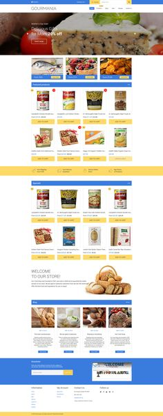 Shopify Template , Gourmania