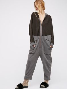 Marley Jumpsuit | Your new go-to cozy hooded jumpsuit. Features an effortless, oversized and relaxed fit. Simple front zipper closure and side pocket details.