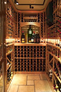 Restaurant Wine Room Storagr Interior Design of Cesca Enoteca and Trattoria, Upper West Side NYC Wine Cellar Basement, Wine Cellar Racks, Wine Rack, Wine Cellar Innovations, Caves, Home Wine Cellars, Wine Cellar Design, Wine Storage, Storage Room