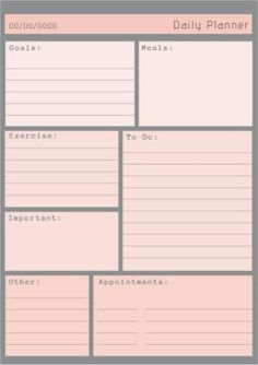 Pretty pastel daily planner with rich grey background. Plenty of space to fill in. Easy to edit template. Day Planner Template, Daily Schedule Template, Daily Planner Printable, Planner Pages, Daily Work Planner, Loyalty Card Template, Printable Business Cards, Templates Printable Free, Day Planners