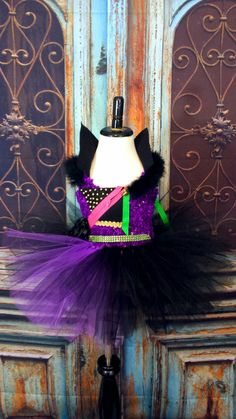 Check out this item in my Etsy shop https://www.etsy.com/listing/287660115/descendants-mal-tutu-dress-mal-costume