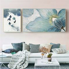 Floral Design Abstract Wall Art Hand-painted Large Painting Canvas Wall Decor - Abstract Canvas Wall Art - Ideas of Abstract Canvas Wall Art Abstract Canvas Wall Art, Modern Canvas Art, Large Canvas Art, Canvas Wall Decor, Large Painting, Painting Canvas, Large Canvas Paintings, Multiple Canvas Paintings, Living Room Canvas Painting