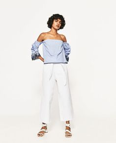 ZARA - WOMAN - OFF-THE-SHOULDER BLOUSE