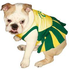 Oregon Ducks Yellow-Green Pet Cheer Dress