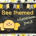$This cute 53 page bee themed classroom décor pack is perfect for you if you are looking for a bee themed classroom or a yellow/gray/black and white...