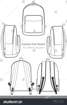 Find Backpack Design Illustration Flat Sketches Template stock images in HD and millions of other royalty-free stock photos, illustrations and vectors in the Shutterstock collection. Jacket Drawing, Drawing Bag, Backpack Drawing, Branding Design, Logo Design, Leather Bag Pattern, Dark Wallpaper Iphone, Flat Sketches, Flat Design Illustration