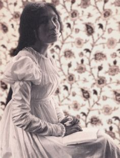 Zitkala Sa, wrote several works chronicling her struggles in her youth as she was pulled back and forth between the influences of American culture and her Native American heritage. She wrote books in English that brought traditional Native American stories to a widespread white readership. Photographed 1898 by Gertrude Kasebier.