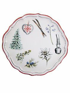 alpine cake plate made in france