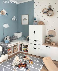 Boys room ideas, Toddler room in blue