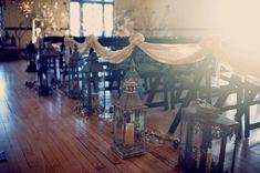 lantern lined aisles // joyeuse photography