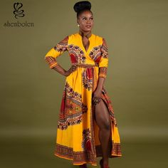 2017 fahsion african dresses for women tradition dashiki fabric wax printing coat three-quarter sleeve jacket lady dress African Dresses For Women, African Attire, African Wear, African Women, African Beauty, African Outfits, African Clothes, African Style, African Inspired Fashion