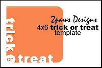 2paws Designs: Friday Freebie - trick or treat frame #scrapbooking #digiscrap #free #halloween #card #photography