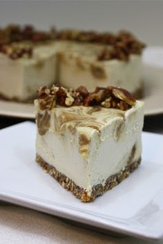 "Caramel Apple ""Cheese""-cake by Sweetly Raw Yup! It's truly raw!  I have renamed these ""Please-cakes""!"
