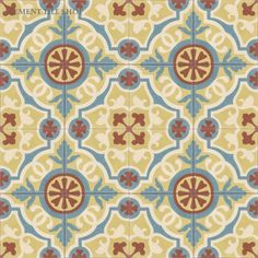 Cement Tile Encaustic Amalia Cafe Use With French Terra Cotta Floor As