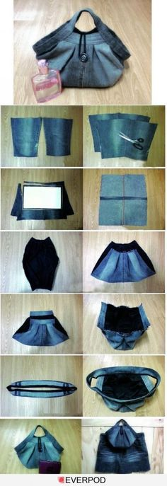 39 Ideas sewing projects bags old jeans diy Sewing Tutorials, Sewing Patterns, Sewing Projects, Diy Projects, Sewing Crafts, Free Tutorials, Kids Patterns, Sewing Diy, Upcycled Crafts