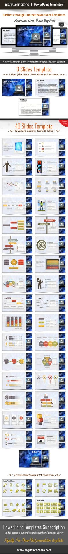 Impress and Engage your audience with Business through Internet PowerPoint Template and Business through Internet PowerPoint Backgrounds from DigitalOfficePro. Each template comes with a set of PowerPoint Diagrams, Charts & Shapes and are available for instant download.