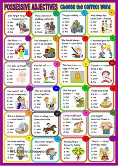 Possessive adjectives : multiple choice for young learners