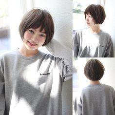 Pin on ボブ Japanese Short Hair, Japanese Hairstyle, Short Hair Cuts For Women, Girl Short Hair, Bob Hairstyles For Fine Hair, Cool Hairstyles, Angled Haircut, Shot Hair Styles, Pelo Bob