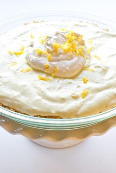 Everyone can eat this Lemon Cream Pie from @makingitmilkfree {top 8 + gluten free}