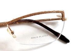 b17497aa50ae7 Boucheron BOU 57 Gold Plated New Womens Titanium Rimless Eyeglasses