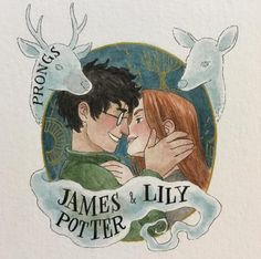 James and Lily Potter Lily Potter, Harry Potter Fan Art, Harry Potter Anime, Harry Potter Portraits, Mundo Harry Potter, Harry Potter Drawings, Harry Potter Ships, Harry Potter Marauders, Harry Potter Tumblr