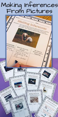 Making inferences from pictures is a great way to gets students started on making inferences. Use pictures first then move to making inferences with text.