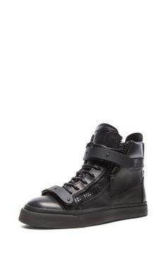 Giuseppe Zanotti|Buckled London Sneaker in Black