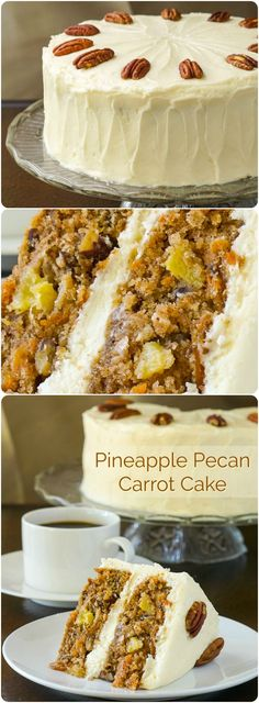 Pecan Pineapple Carrot Cake with Vanilla Buttercream Frosting or Cream Cheese Frosting. I've updated my favourite carrot cake recipe to include brand new photos & baking tips.