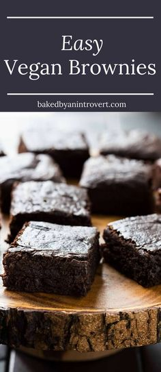 Easy Vegan Brownies | Baked By An Introvert | made with avocado, coconut sugar, coconut milk, and coconut oil. This vegan brownie recipe will completely blow you away.
