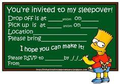 sleepover invite
