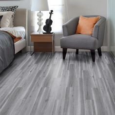 TrafficMASTER 6 in. x 36 in. Alberta Spruce Luxury Vinyl Plank Flooring (24 sq. ft. / case)-821958 - The Home Depot