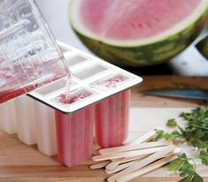 {Oh my, I must eat these this summer.} Watermelon & Parsley Popsicles | Relish