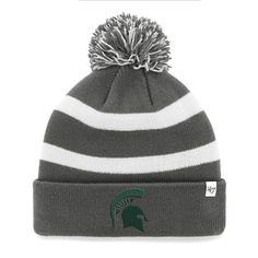 Michigan State Spartans '47 College Football Playoff 2015 Cotton Bowl Bound Breakaway Cuffed Knit Hat with Pom - Charcoal - $19.99
