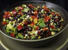Black bean-corn salad is perfect for summer