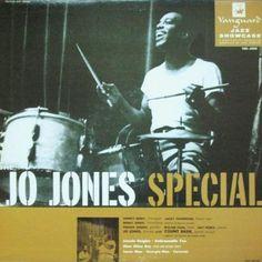 Jo Jones - The Jo Jones Special on the Vanguard label (1955). Cover by Jules Halfant.