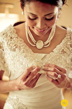 Wedding Attire in Traditional Filipino Fabric